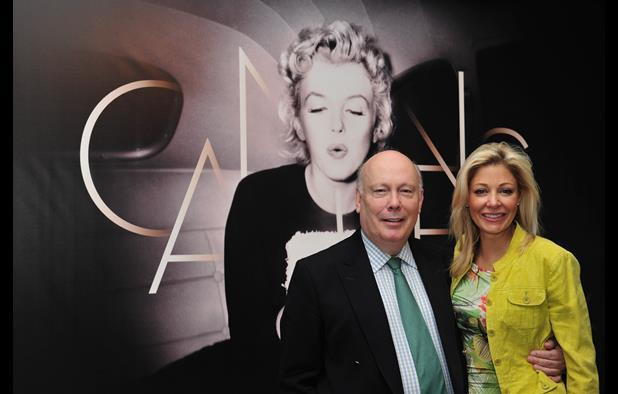 Julian Fellowes and Nadja Swarovski at a launch event for Romeo and Juliet.